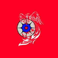 Жар-птица (красный фон)